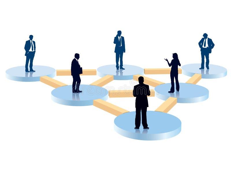 организация диаграммы иллюстрация штока