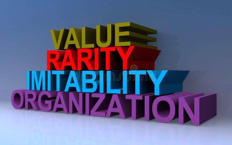 Организация имитируемости ценности иллюстрация штока