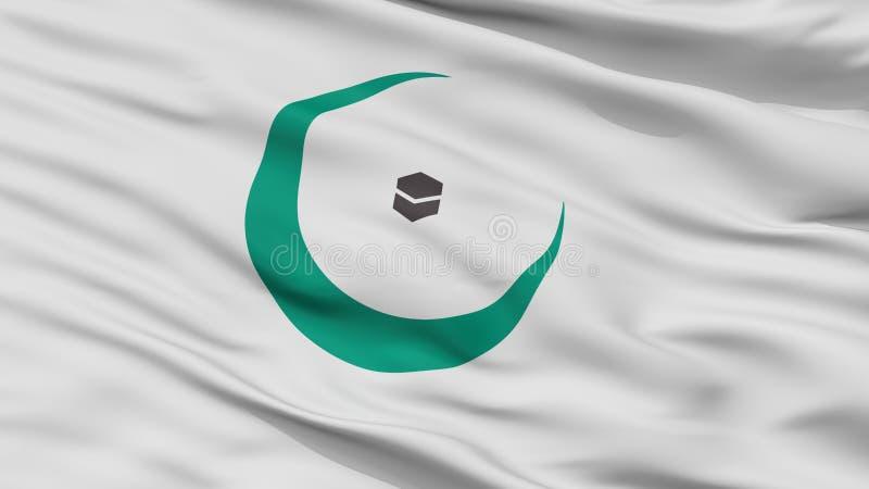 Организация исламского взгляда крупного плана флага сотрудничества иллюстрация штока