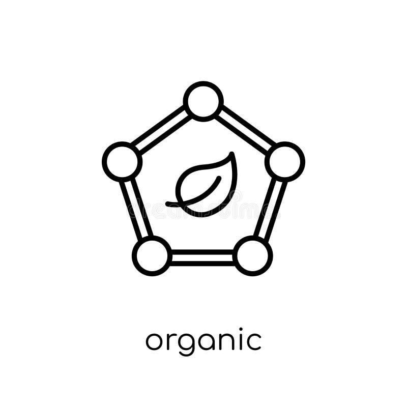 Органическая икона Значок ультрамодного современного плоского линейного вектора органический на w иллюстрация вектора