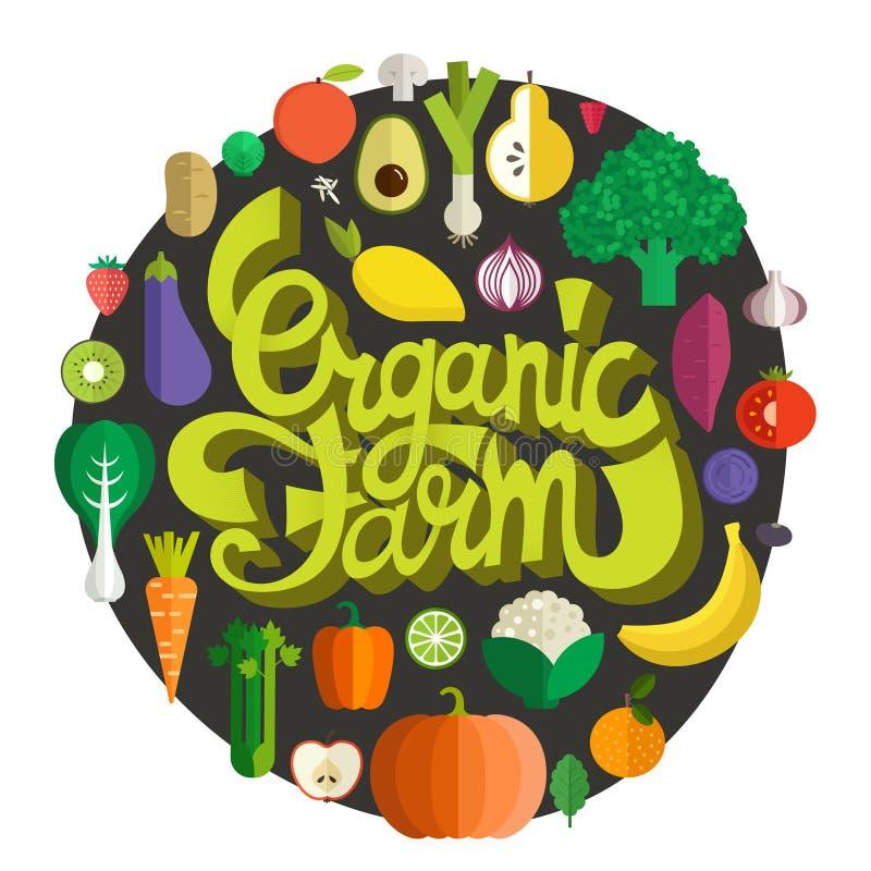Органическая ферма бесплатная иллюстрация