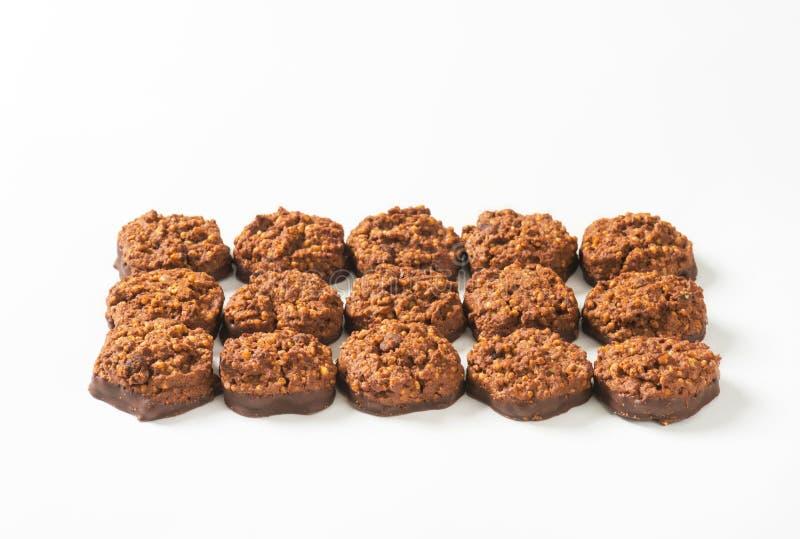 Органические печенья шоколада квиноа стоковые изображения