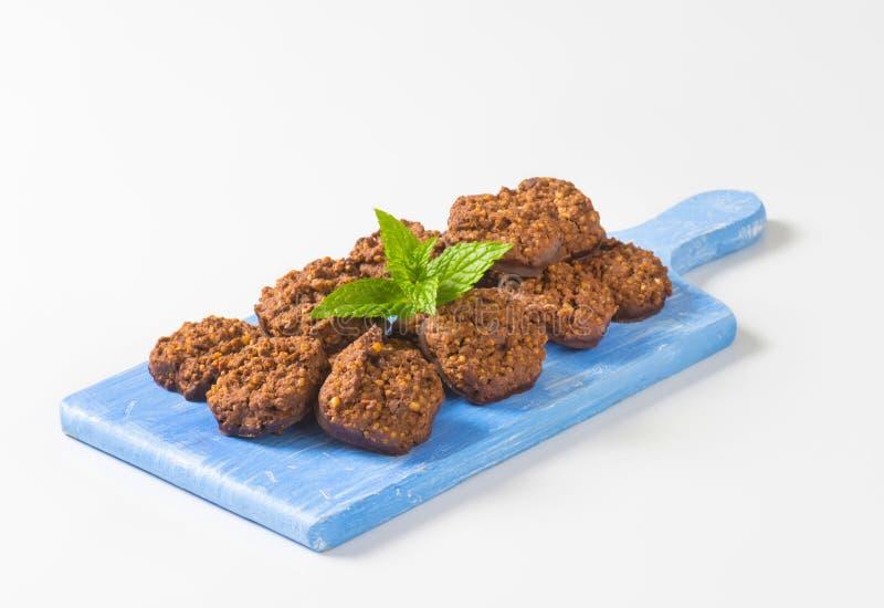 Органические печенья шоколада квиноа стоковое изображение rf