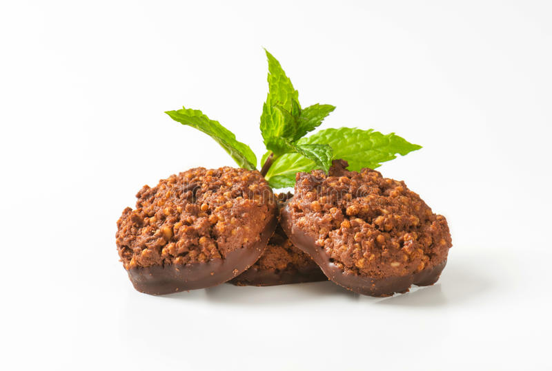 Органические печенья шоколада квиноа стоковые фотографии rf