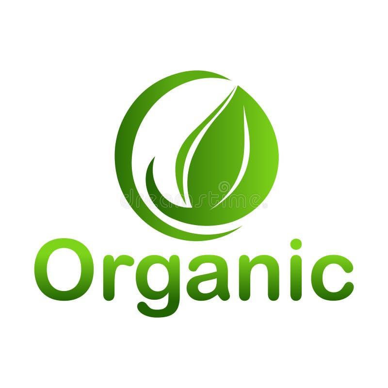 Органический логотип Зеленая иллюстрация вектора значка логотипа Значок логотипа лист иллюстрация вектора