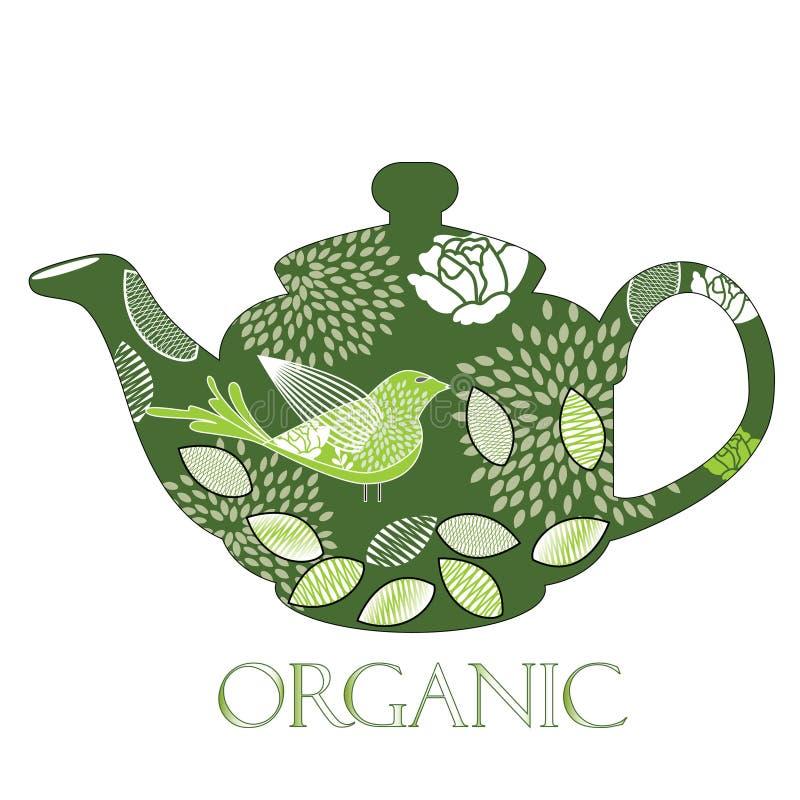органический чайник иллюстрация вектора