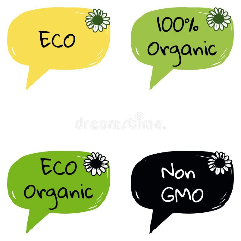 Органический Eco значок природы не Gmo био стоковые изображения