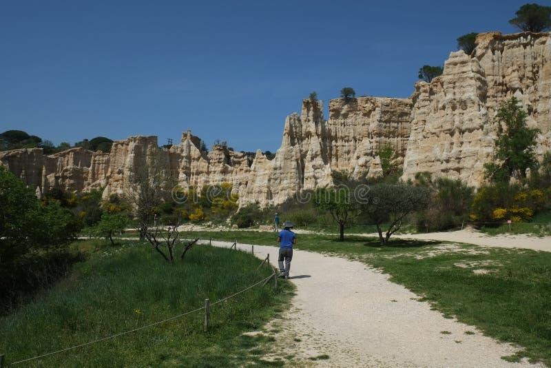 Органы Ille-Sur-Tet, национального парка, Франции стоковое изображение