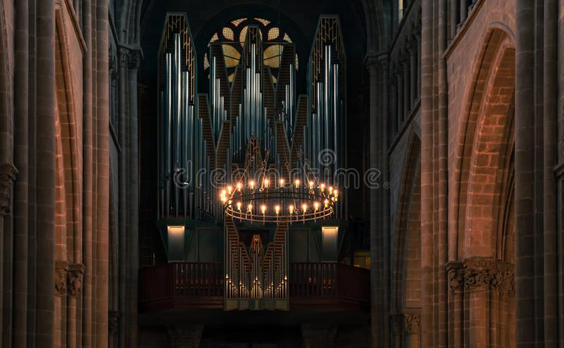 Орган собора St Pierre, Женевы стоковое фото rf