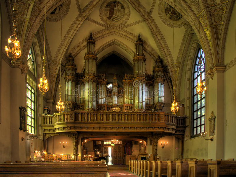 орган церков собора стоковое фото