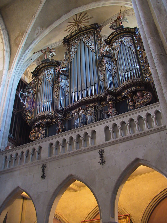 орган церков Стоковые Фото