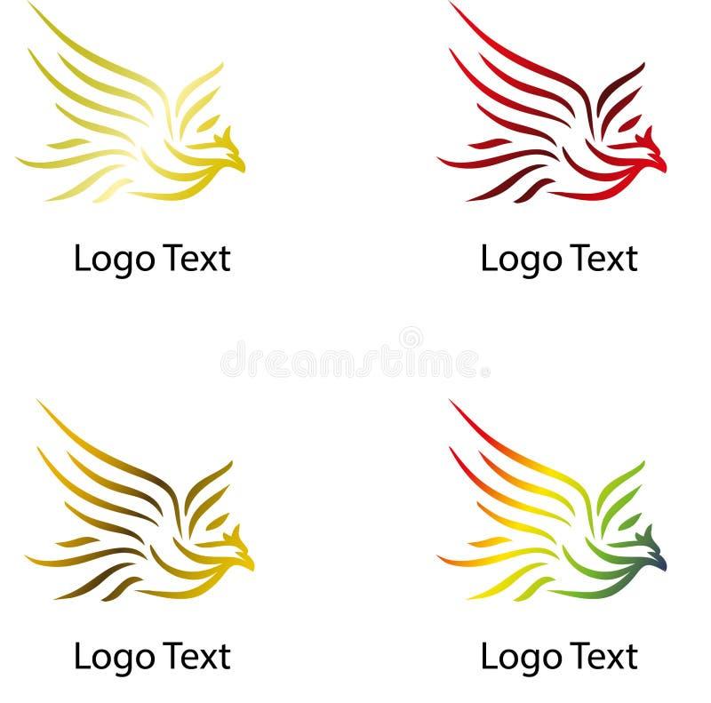 Орел летания, логотип компании с различным цветом иллюстрация штока
