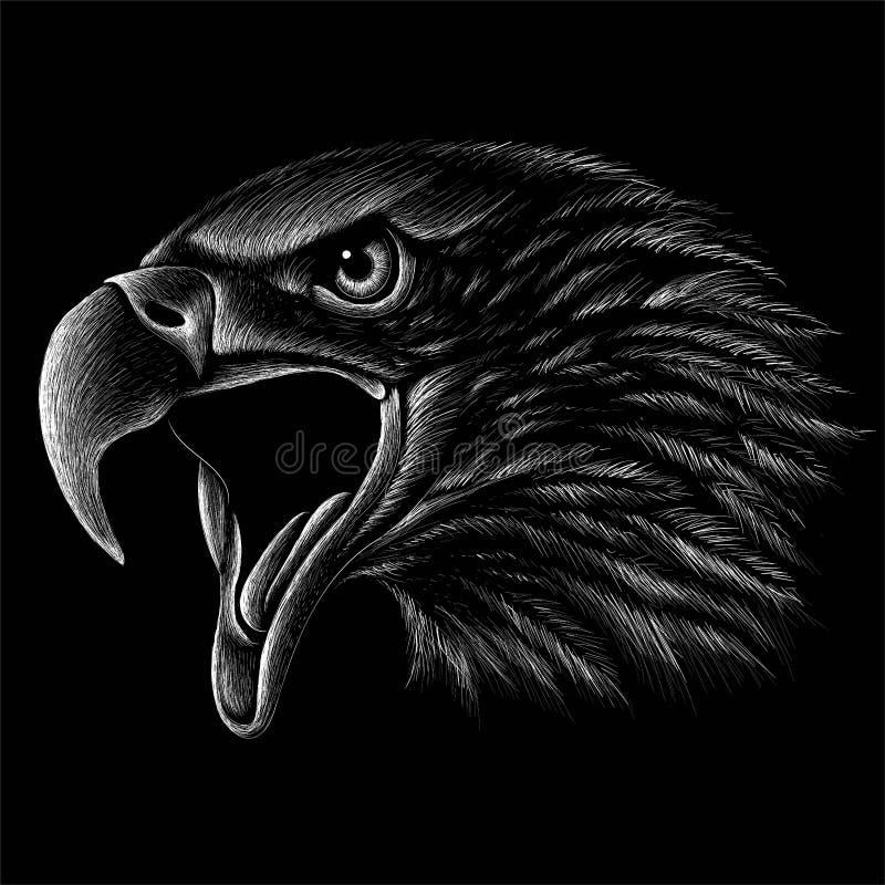 Орел логотипа вектора иллюстрация вектора