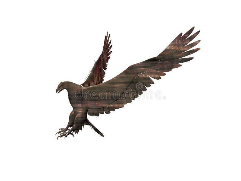 орел свирепый иллюстрация вектора