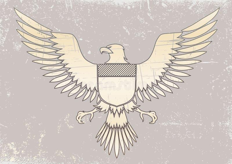 орел средневековый иллюстрация штока