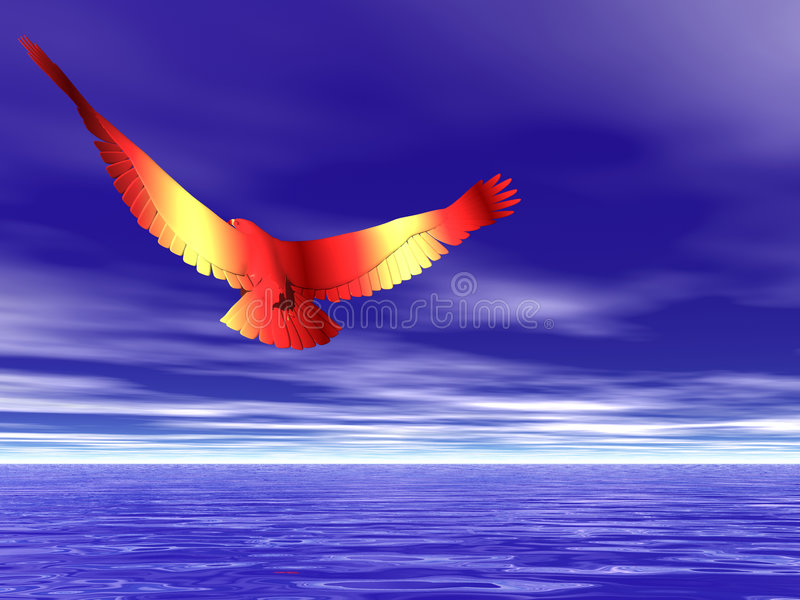 орел Fiery Стоковое Изображение