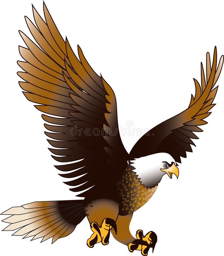 Орел в среднем воздухе стоковая фотография
