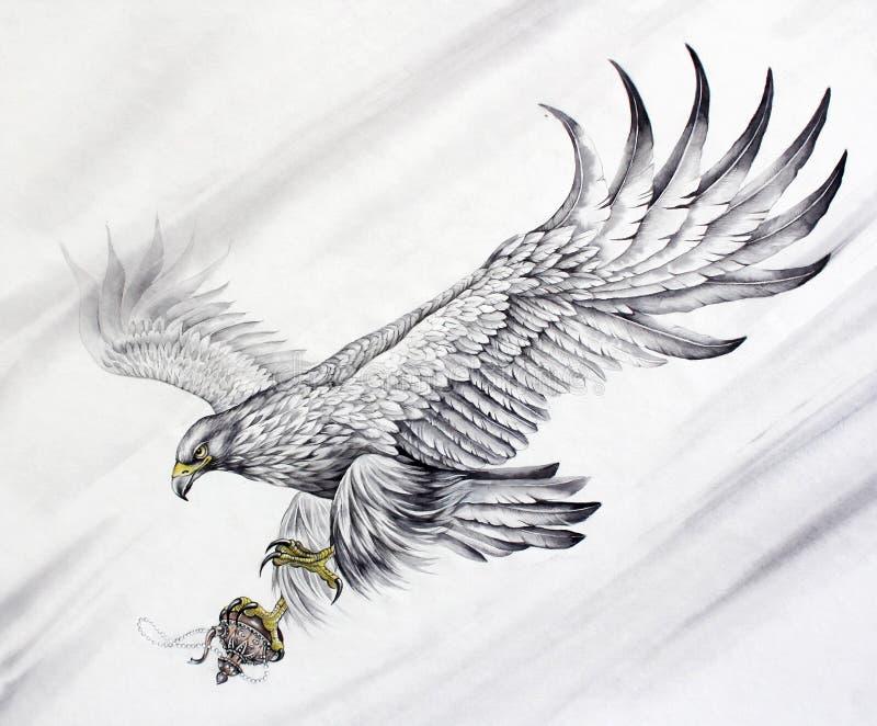Орел летания стоковые фотографии rf