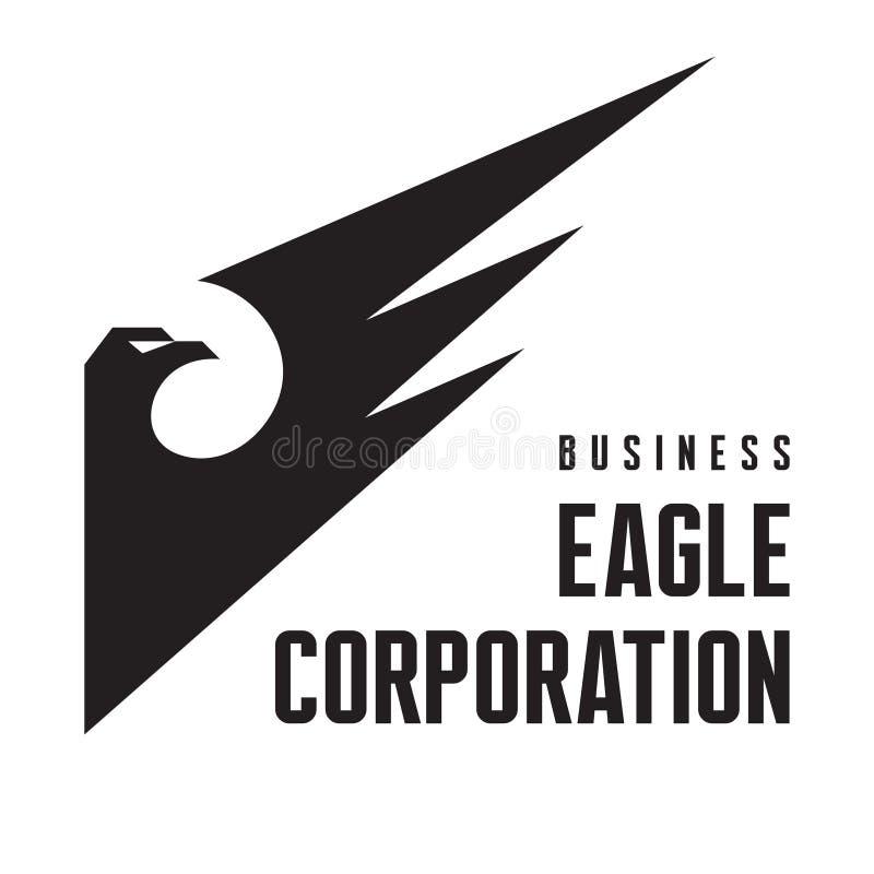 Орел Корпорация - знак логотипа для деловой компании иллюстрация штока