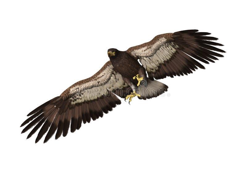 орел перевода 3D на белизне иллюстрация штока
