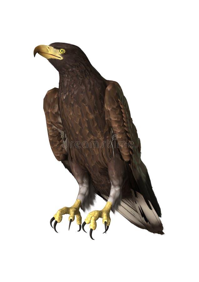 орел перевода 3D на белизне бесплатная иллюстрация