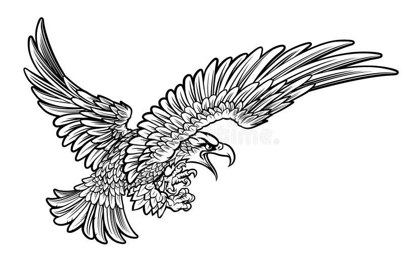 Орел Swooping от стороны бесплатная иллюстрация