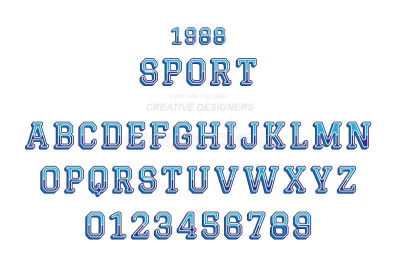 Оригинальный ретро 3D-шрифт шрифт, буквы и цифры для шаблона дизайна для иллюстрация штока