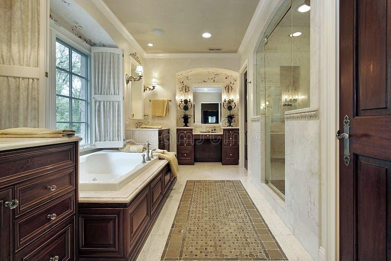 оригинал ванны домашний роскошный стоковое изображение