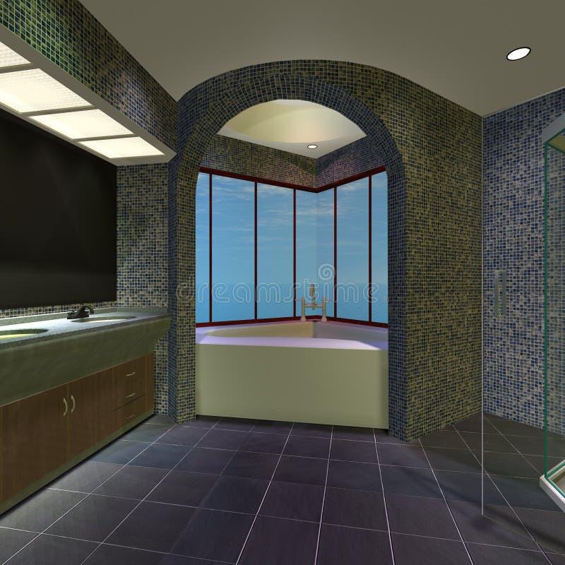 оригинал дома ванной комнаты самомоднейший иллюстрация штока