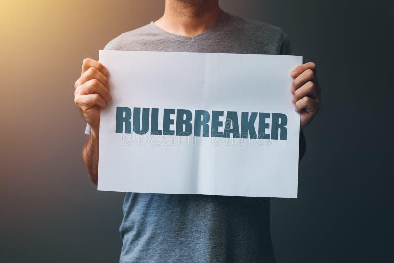 Ориентация Rulebreaker, персона которая breakes правила стоковое изображение rf