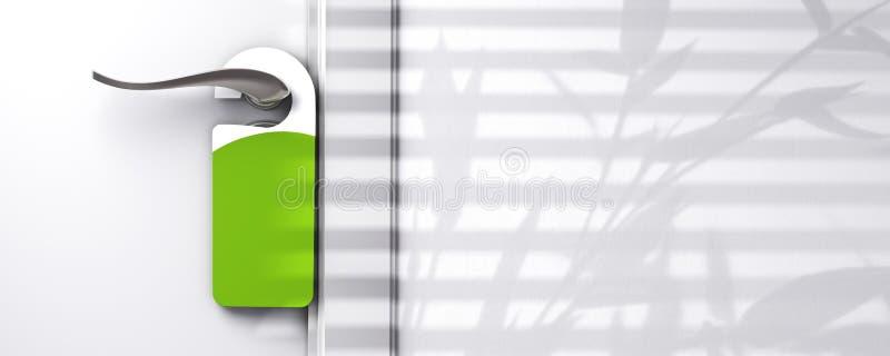 ориентированная на заказчика вешалка двери иллюстрация вектора