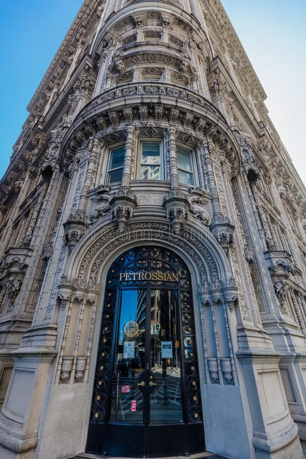 Ориентиры Нью-Йорк u Манхэттена фасада ресторана Petrossian стоковые фото