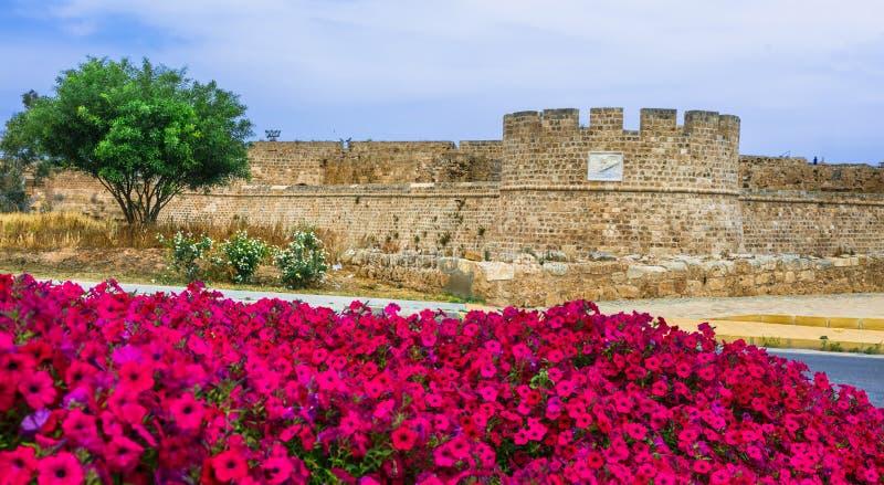 Ориентиры северного Кипра - старого городка Famagusta, взгляда замка цитадели стоковое фото