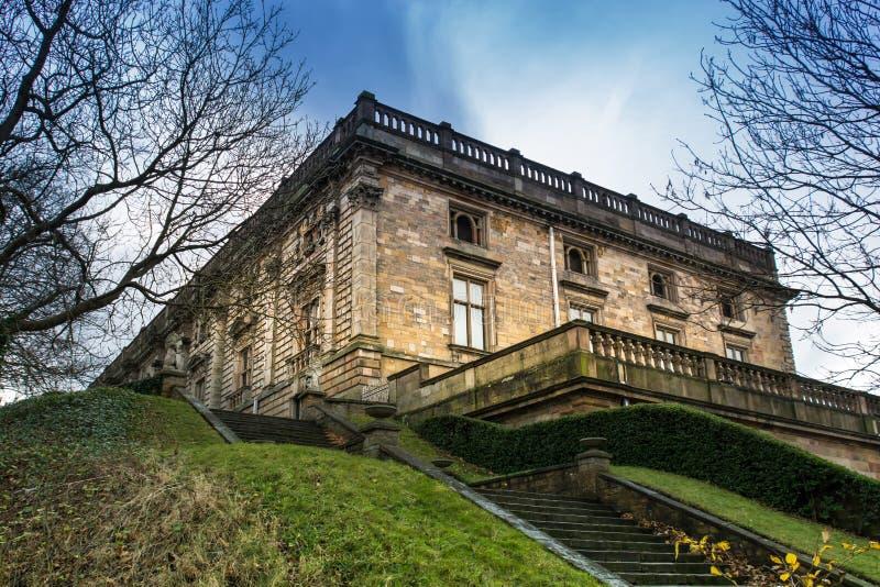 Ориентир замка Ноттингема в восточных Midlands стоковое фото rf