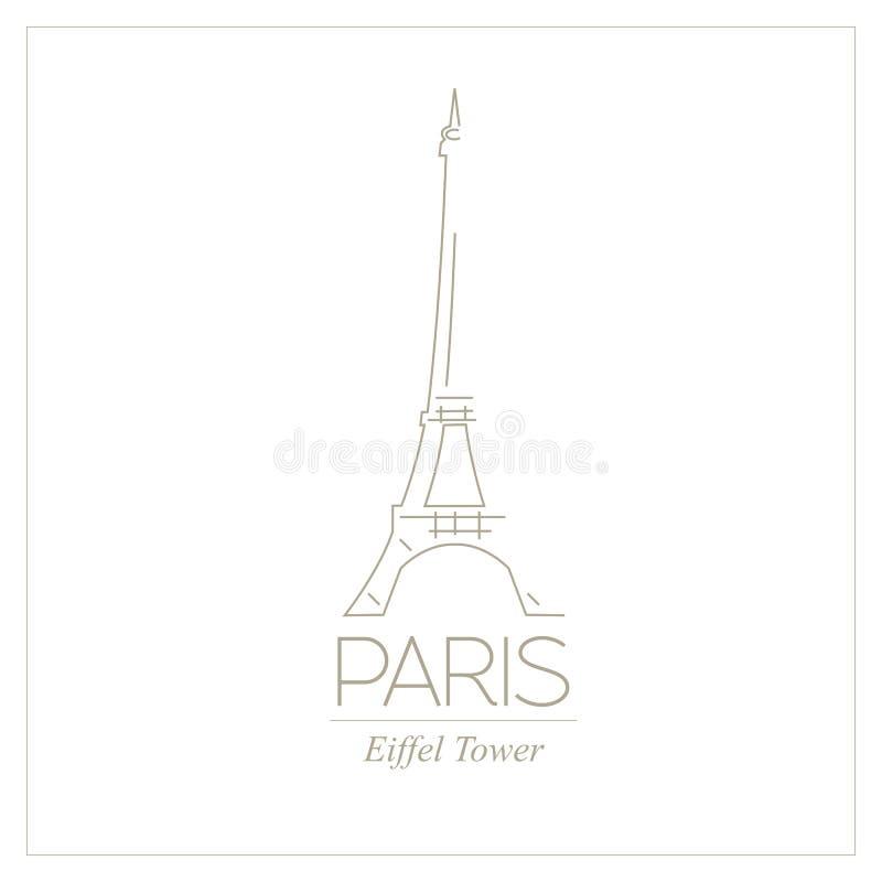 Ориентир ориентиры мира paris Франция Эйфелева башня Графический шаблон иллюстрация вектора
