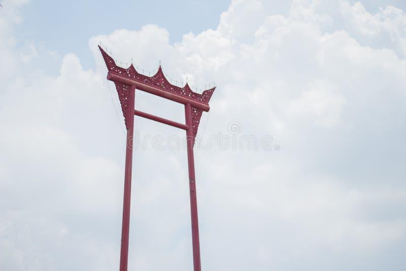 Ориентир ориентиры памятника гигантского качания в Таиланде стоковые изображения rf