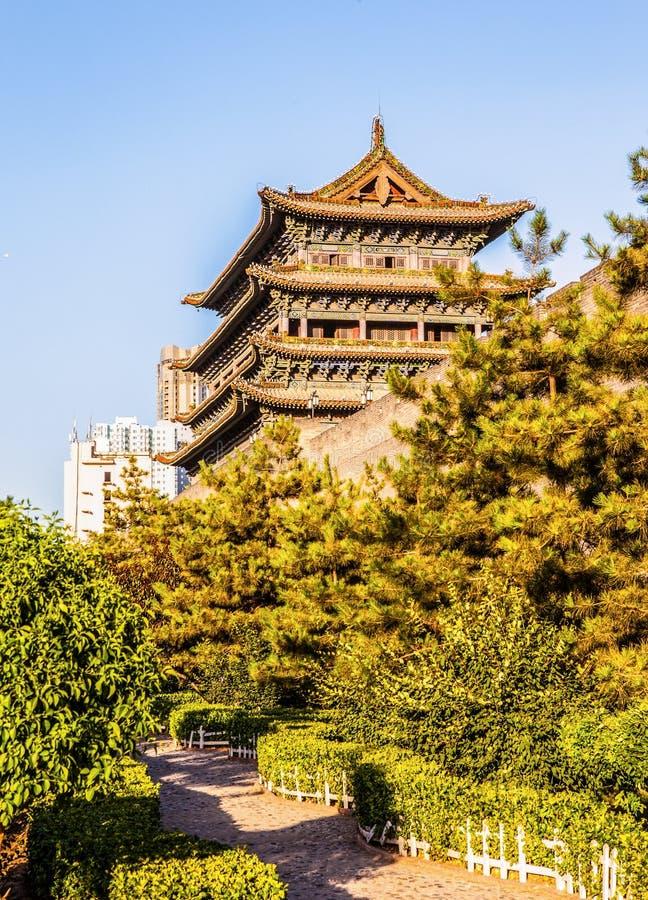 Ориентир ориентир города Тайюаня строя малый северный строб стоковые фотографии rf