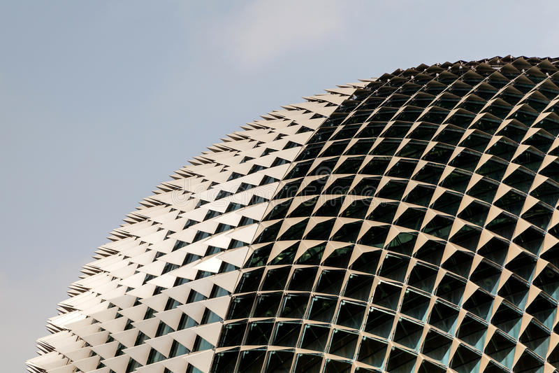 Ориентир ориентир Сингапура: Театры эспланады на заливе стоковые фото