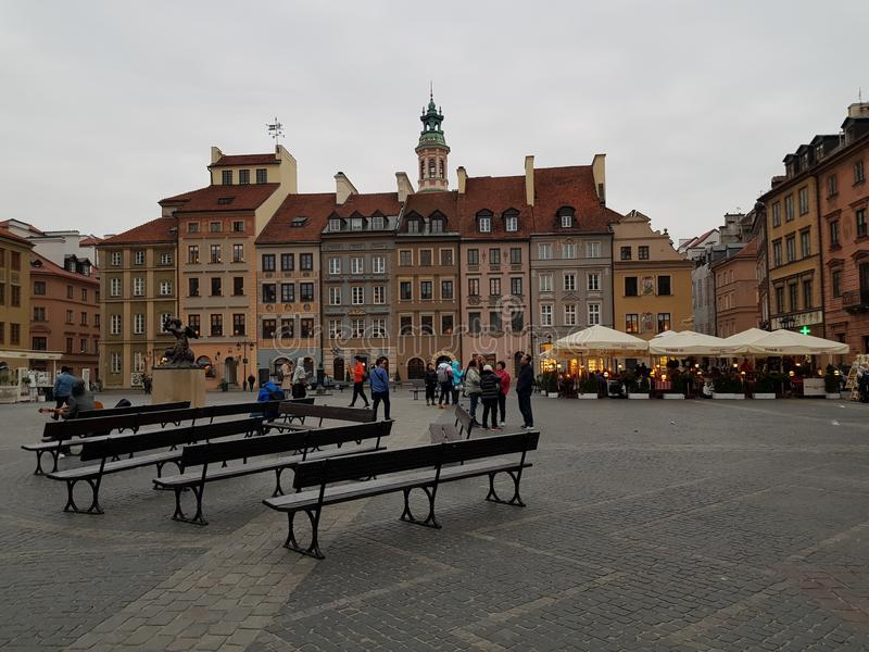 Ориентир oldcity Evrope Варшавы Польши стоковая фотография rf