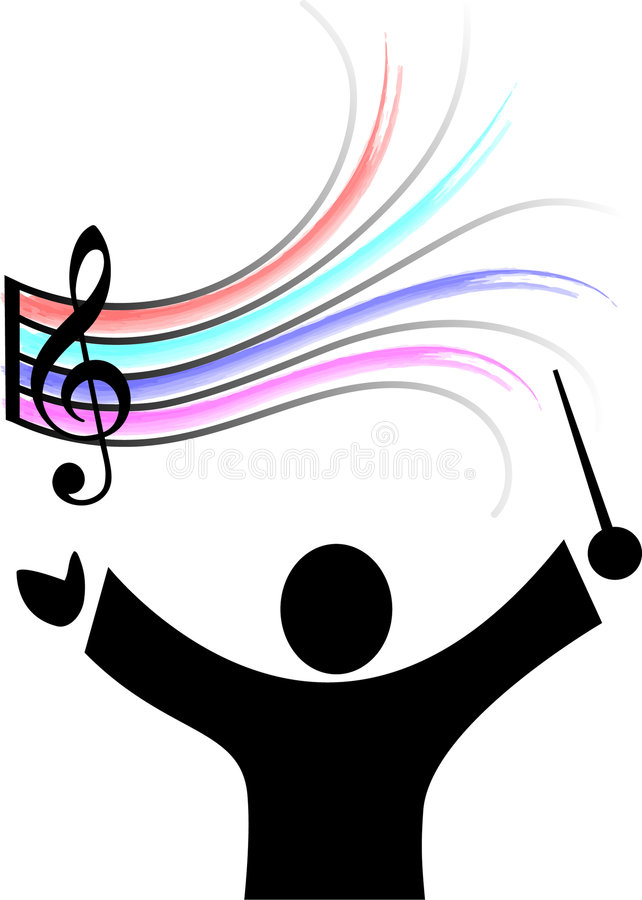 оркестр нот проводника бесплатная иллюстрация
