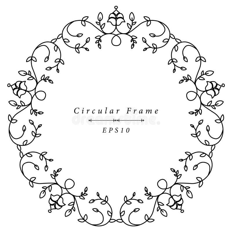 Орнаментальная античная рамка в круглой форме изолированная на белой предпосылке иллюстрация штока
