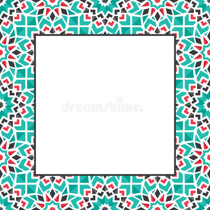 Орнаментальная декоративная рамка вектора стоковое фото