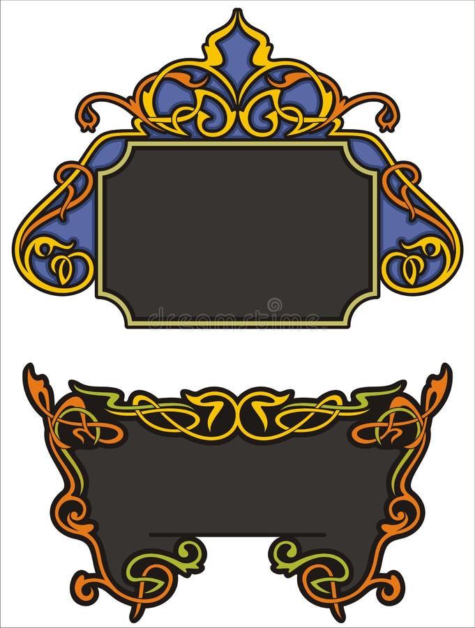 орнаментальные панели иллюстрация вектора