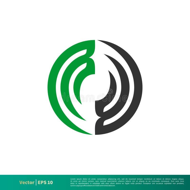 Орнаментальный дизайн иллюстрации шаблона логотипа вектора значка свирли круга r иллюстрация штока