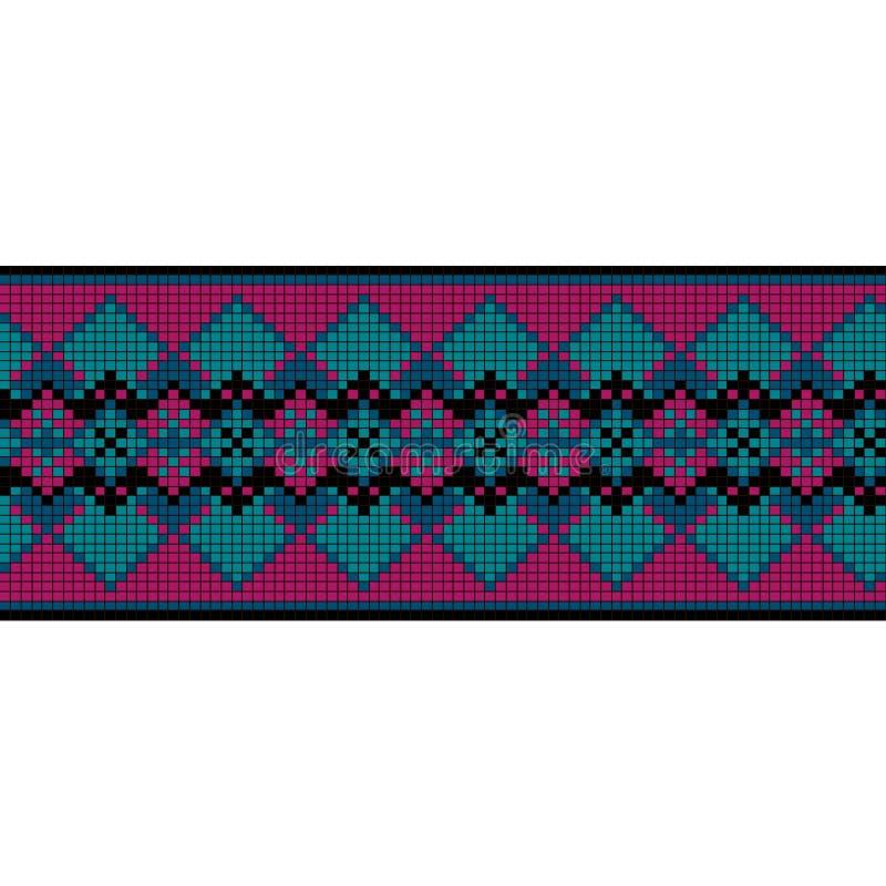 Орнаментальная безшовная картина этнический орнамент иллюстрация вектора
