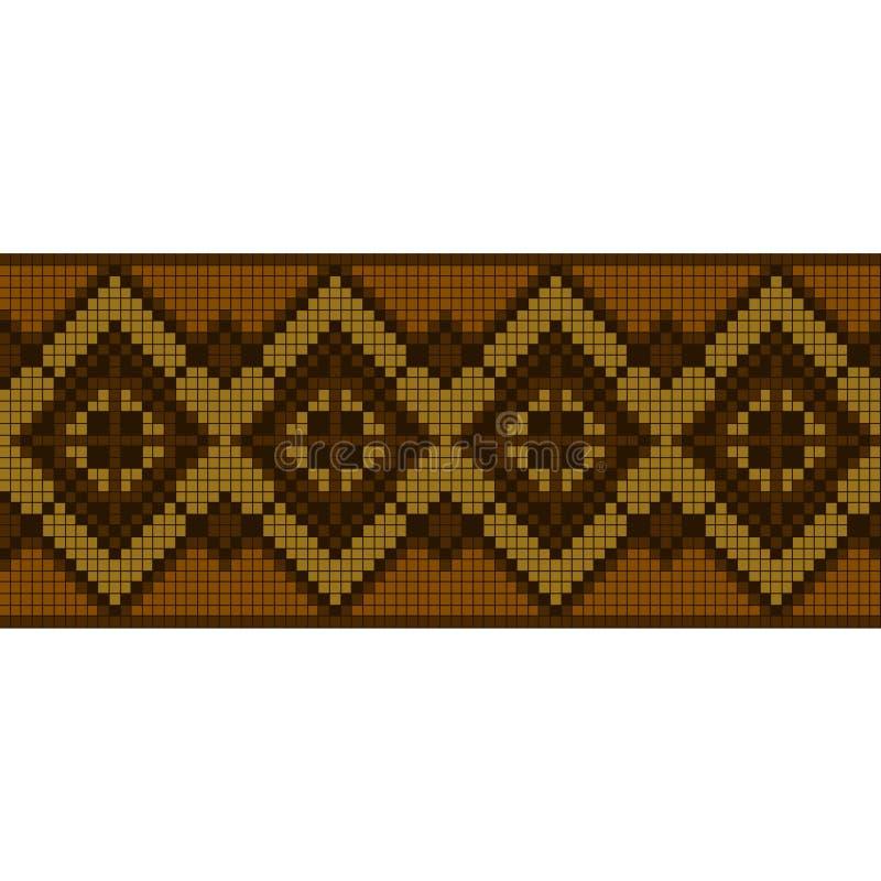 Орнаментальная безшовная картина этнический орнамент бесплатная иллюстрация