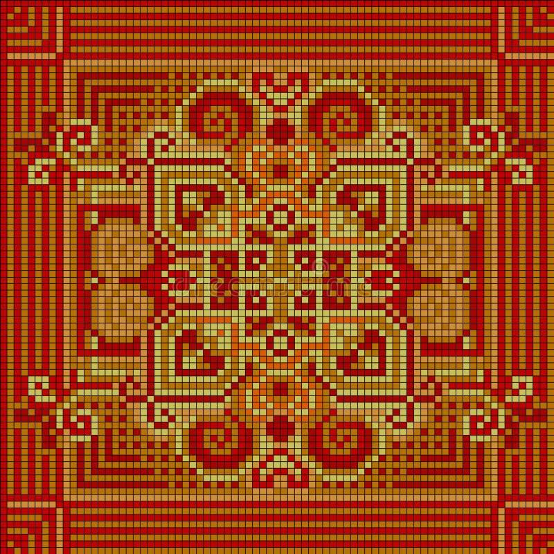 орнаментальная картина этнический орнамент иллюстрация вектора