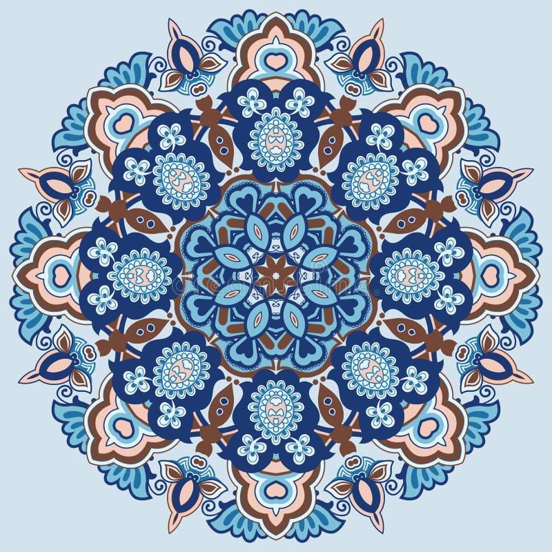 Орнаментальная круглая картина иллюстрация вектора