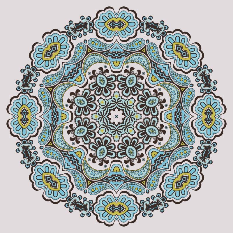 Орнаментальная круглая картина бесплатная иллюстрация