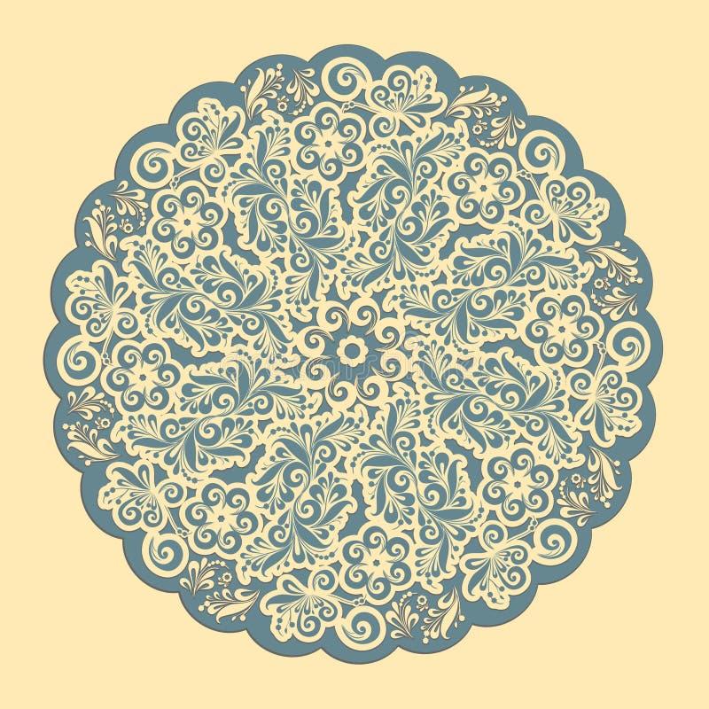 Орнаментальная круглая рамка шнурка. иллюстрация вектора